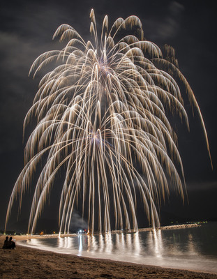 5花火と風景「枝垂れ花火」鎌池 和彦.jpg